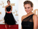 Kaley Cuoco In Romona Keveza - 2011 Emmy Awards