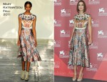 "Keira Knightley In Mary Katrantzou - ""A Dangerous Method"" Venice Film Festival Photocall"