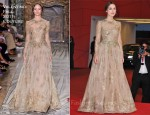 "Keira Knightley In Valentino Couture - ""A Dangerous Method"" Venice Film Festival Premiere"