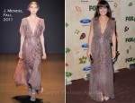 Lea Michele In J. Mendel - FOX Fall Eco-Casino Party