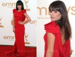 Lea Michele In Marchesa - 2011 Emmy Awards