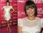 Lea Michele In Katharine Kidd - Variety's 3rd Annual Power Of Women Luncheon