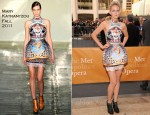 Leelee Sobieski In Mary Katrantzou - 2011 Metropolitan Opera Season Opening Night