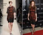 Lily Cole In Bottega Veneta - The Global Party Launch