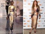 Lily Cole In Giles - InStyle & The HFPA's Annual Event