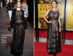 "Marion Cotillard In Christian Dior - ""Contagion"" New York Premiere"