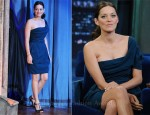 Marion Cotillard In Lanvin - Late Night With Jimmy Fallon