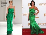 Olivia Munn In Carolina Herrera - 2011 Emmy Awards
