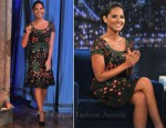 Olivia Munn In Carolina Herrera -  Late Night With Jimmy Fallon