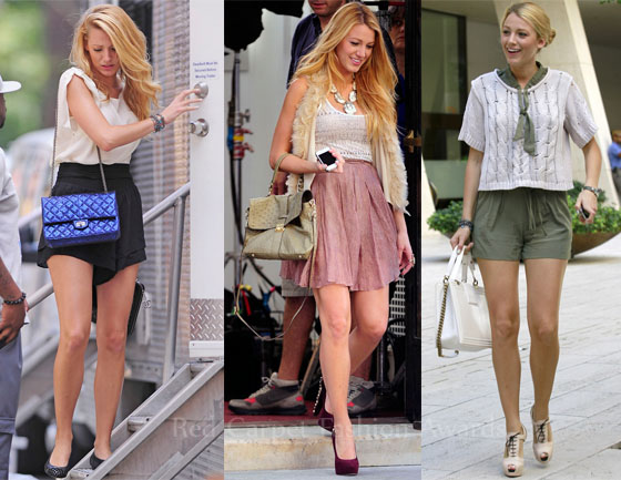 On The Set Of Gossip Girl With Blake Lively Red Carpet