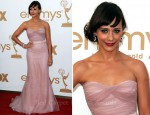 Rashida Jones In Alberta Ferretti - 2011 Emmy Awards