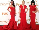 Red Carpet Emmy's Trend - Ladies In Red