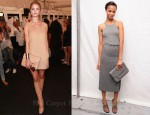 Zoe Saldana & Rosie Huntington-Whiteley Front Row @ Michael Kors