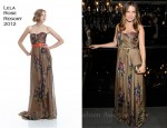 Sophia Bush In Lela Rose - Dolce & Gabbana Fashion's Night Out