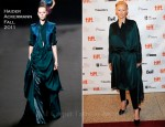 "Tilda Swinton In Haider Ackermann - ""We Need To Talk About Kevin"" Toronto Film Festival Premiere"