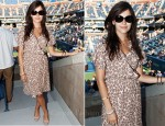 Camilla Belle In Tucker - The Moët & Chandon Suite At The US Open