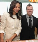 Zoe Saldana In Antonio Berardi - Glamour And Clarisonic Host The New Em(power)ment Luncheon