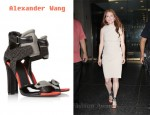 In Julianne Moore's Closet - Alexander Wang Chloe Perch-Trimmed Leather Sandals