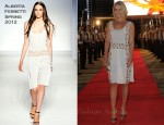 Ali Larter & Amy Smart In Alberta Ferretti - III° Edition of Cali Expo Show