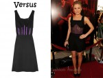 In Anna Paquin's Closet - Versus Twill and Boned Tulle Dress