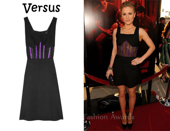 76c2637936d8 In Anna Paquin s Closet - Versus Twill and Boned Tulle Dress - Red ...
