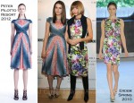 Bee Shaffer In Peter Pilotto & Anna Wintour In Erdem - London Show Rooms LA Closing Cocktail Event