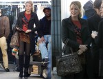 On The Set Of Gossip Girl With Blake Lively In Marc by Marc Jacobs & Haute Hippie