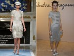 Camilla Belle In Salvatore Ferragamo - Ferragamo Moscow Fashion Show