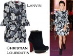 In Carina Lau's Closet - Lanvin Floral Dress & Christian Louboutin Figurina Suede Ankle Boots