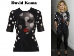 In Cheryl Cole's Closet - David Koma Face Print Top