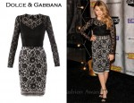 In Chloe Moretz' Closet - Dolce & Gabbana Floral Lace Dress