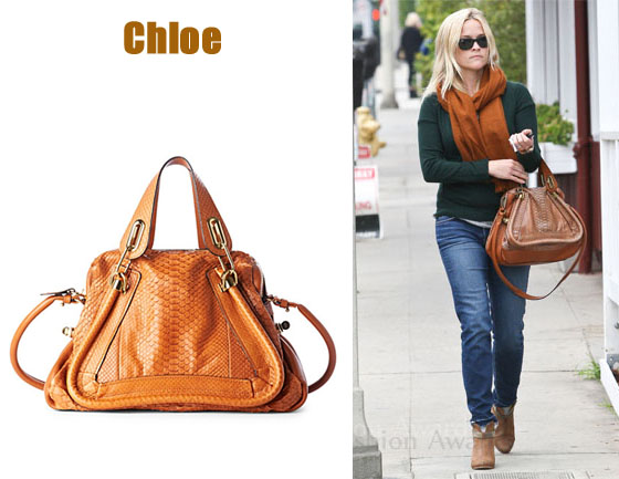 In Reese Witherspoon\u0026#39;s Closet - Chloe Paraty Python and Leather ...