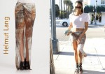In Ciara's Closet - Helmut Lang Transfer-Print Gathered Maxi Skirt