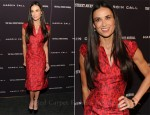 Demi Moore In Zac Posen - 'Margin Call' New York Premiere