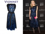 In Diane Kruger's Closet - Vionnet Metallic Lace Dress