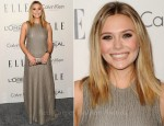 Elizabeth Olsen In Calvin Klein - Elle's 18th Annual Women in Hollywood Tribute