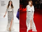 Emma Stone In Luca Luca - 'The Help' London Premiere