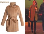 In Emma Stone's Closet - MaxMara Sargano Camel-Hair Coat