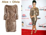 In Eva Longoria's Closet - Alice + Olivia Breck Sequin Dress