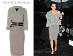 In Eva Longoria's Closet - Victoria Beckham Cashmere Blend and Stretch Crepe Dress