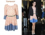 In Rachel Bilson's Closet - Topshop Rose Patch Dress