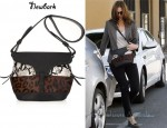 In Mandy Moore's Closet - Newbark Lauren Leather and Calf Hair Shoulder Bag