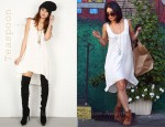 In Vanessa Hudgens' Closet - Teaspoon Rose Slip Dress