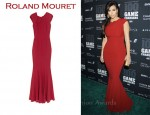 In Kim Kardashian's Closet - Roland Mouret Copperfield Stretch-Crepe Gown