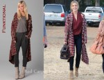 In Kristin Cavallari's Closet - Funktional Mayan Draped Cardigan, Jimmy Choo Suede Ankle Boots & Z Spoke by Zac Posen Bag