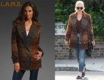 In Gwen Stefani's Closet - L.A.M.B. Boxy Buffalo Plaid Blazer