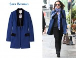 In Pippa Middleton's Closet - Sara Berman Yvette Velvet Trim Jacket