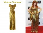 In Paloma Faith's Closet - Vivienne Westwood Gold Label Long Glazing Metallic Sequined Gown