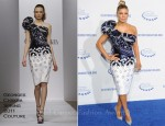 Fergie In Georges Chakra Couture - The Clinton Foundation's 'A Decade Of Difference' Gala