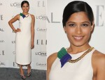 Freida Pinto In Calvin Klein - Elle's 18th Annual Women in Hollywood Tribute